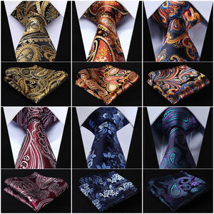 Classical Silk Tie and Pocket Squares