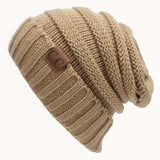 Knitted Wool Solid-color Hip-Hop Stocking Cap