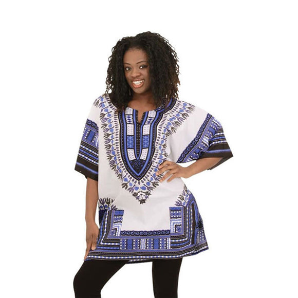 African Dashiki Shirt with Half-sleeves