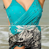 Sarong Open-Back Beach Cover-up