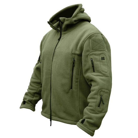 Tactical Polartec Thermal Polar Hooded Army Coat