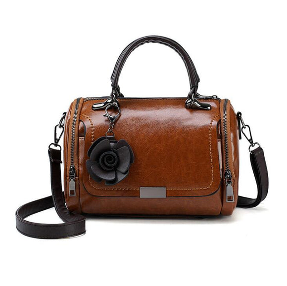 Vintage PU Leather Designer Shoulder Bag