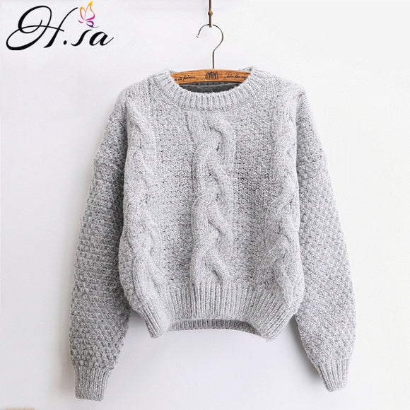 Warm Pullover Crewneck Mohair Sweater