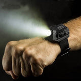 Waterproof LED Tactical Display Rechargeable Wrist Watch Flashlight