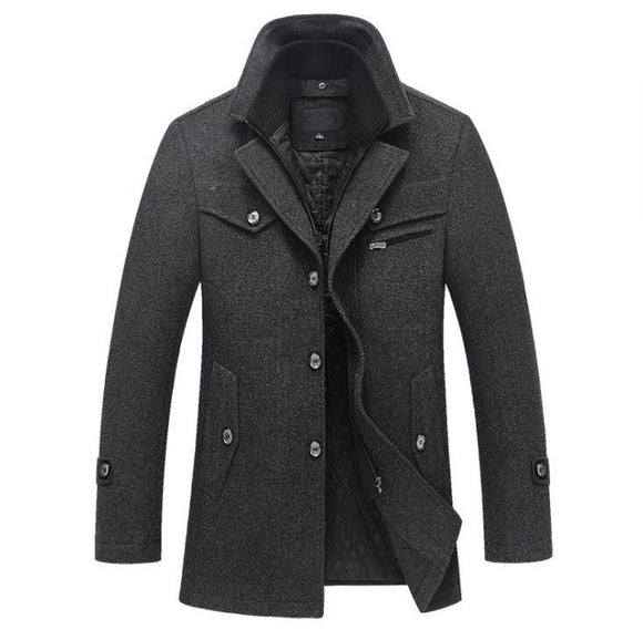 Wool Slim-fit Coat
