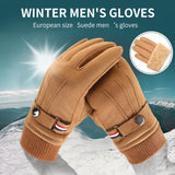 Men's Winter Suede Driving Gloves