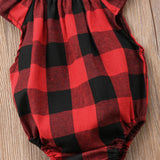Newborn's Plaid Romper