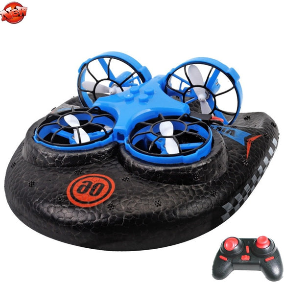 Multifunction Water/Land/Air Remote Control RC Hovercraft 2.4G High Speed