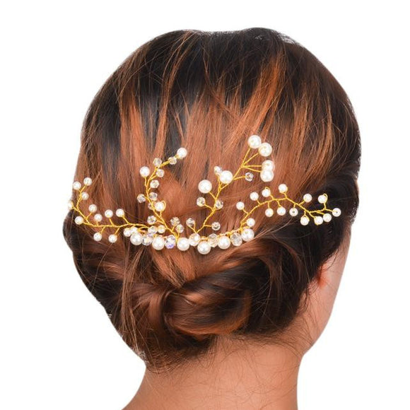 Fashion Women Pearl Flower Barrette Hairpin Hair Clip Headband