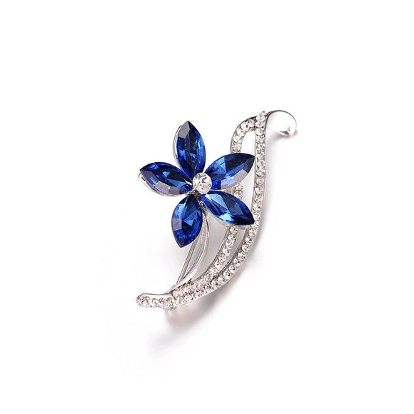 Rhinestone Flower Brooches For Women
