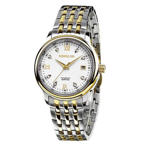 SUNBLON S501 Water Resistant Stainless Steel Men's Automatic Mechanical Watch