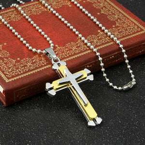Stainless Steel Cross Pendant Necklace Chain