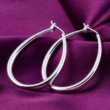Small Oval Oval Rhombus Earrings