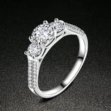 Silver White Zircon Ring