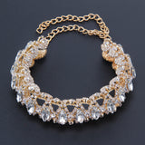 Noble Stylish Full Diamond Crystal Rhinestone Choker Collar Necklace Jewelry GD