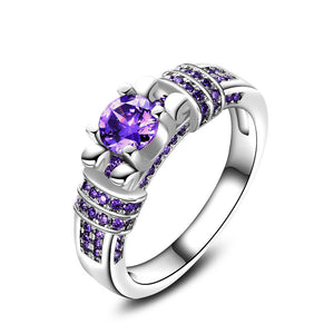 Silver Purple Zircon