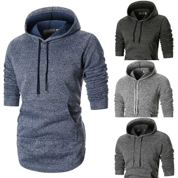 Autumn Long-Sleeve Pocket Hooded Sweatshirt