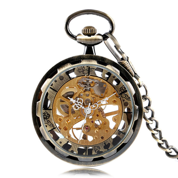 Antique Style Open-face Mechanical Pocket Watch