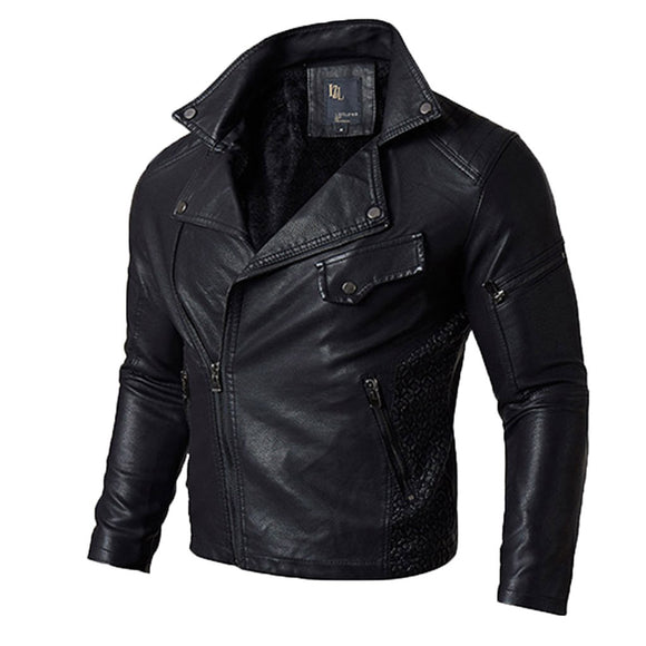 Winter Men's PU Jacket