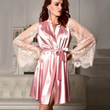 Lace Nightdress Robe with Belt
