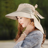 Large brimmed Sun with Lovely Self-tie Bow