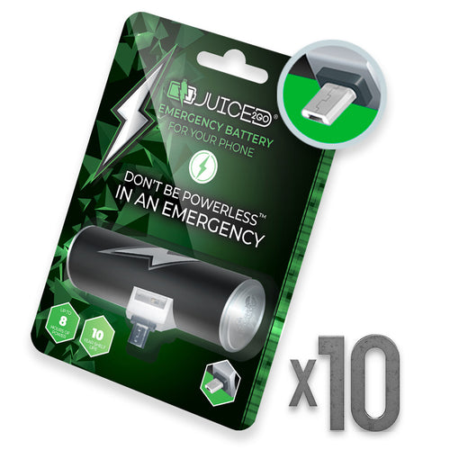 Juiced2Go® Micro-USB 10 Pack