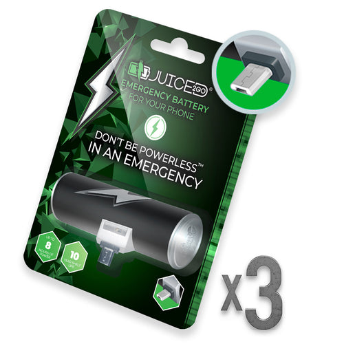 Juiced2Go® Micro-USB 3 Pack