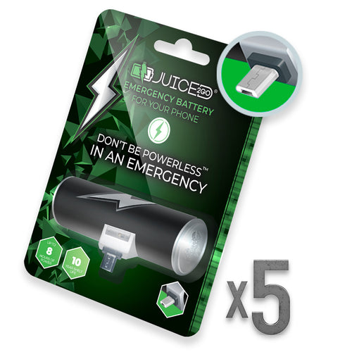 Juiced2Go® Micro-USB 5 Pack