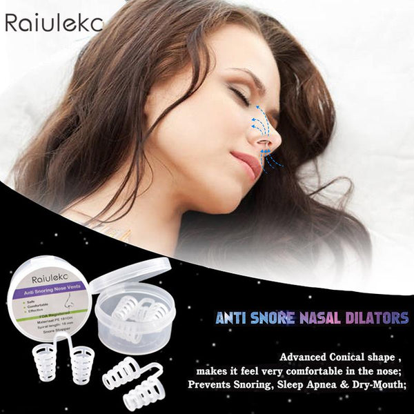 Anti snore nasal dilating clips