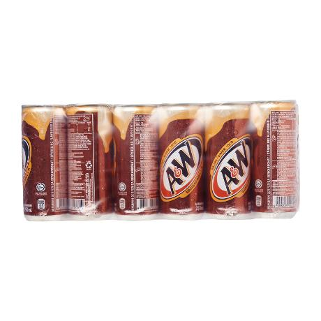 A&W Sarsaparilla Root Beer 24 x 250 ml