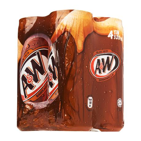 A&W Sarsaparilla Root Beer 4 x 320 ml