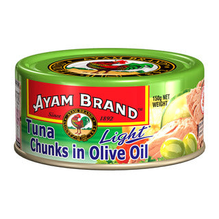 Ayam Brand Tuna Flakes In Olive Oil Light 150g