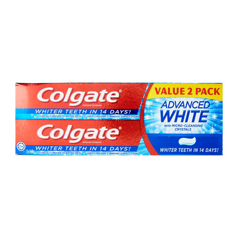 Colgate Advanced Whitening Toothpaste Super 2-Value Pack 2 x 160 g