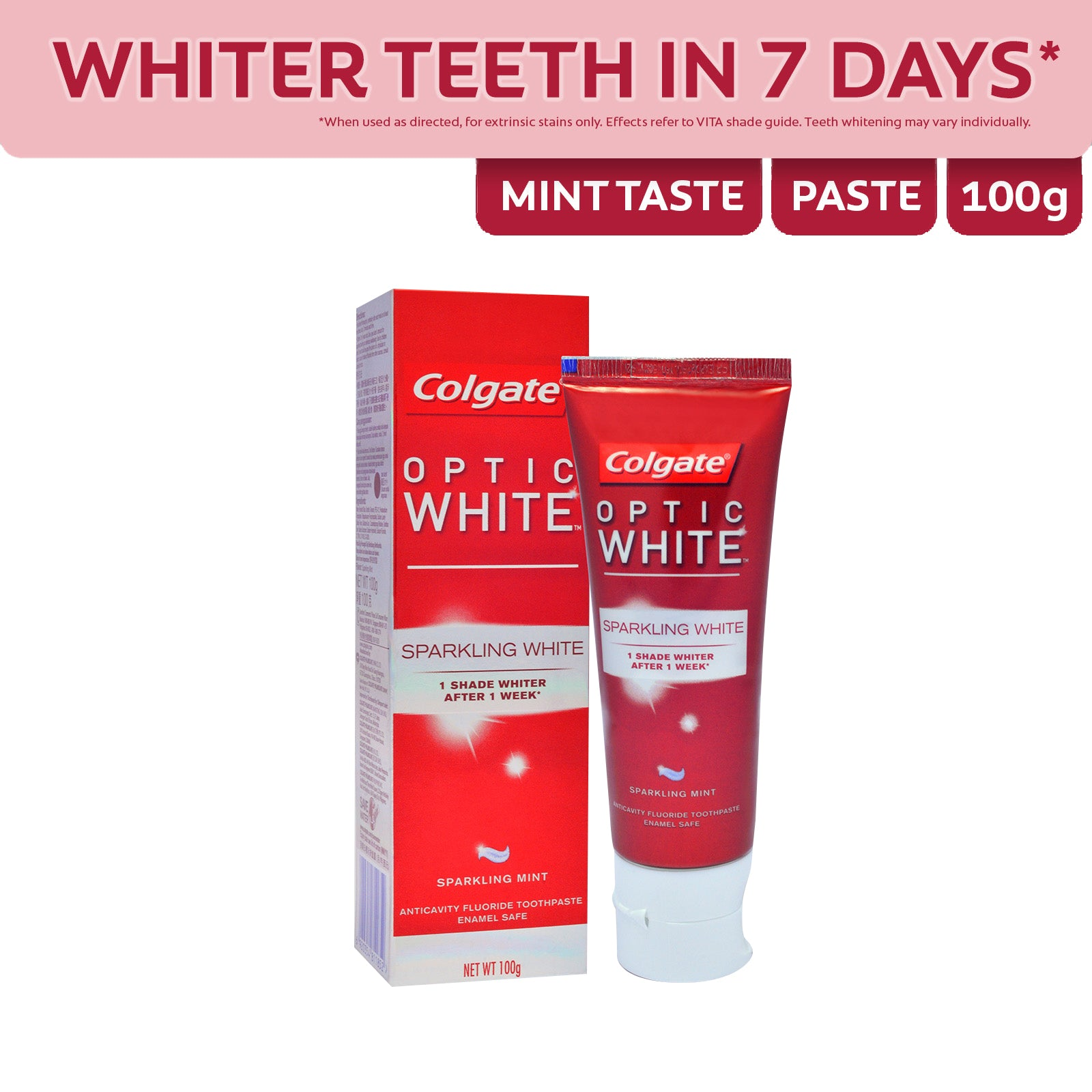 Colgate Optic White Sparkling Mint Toothpaste 100 g