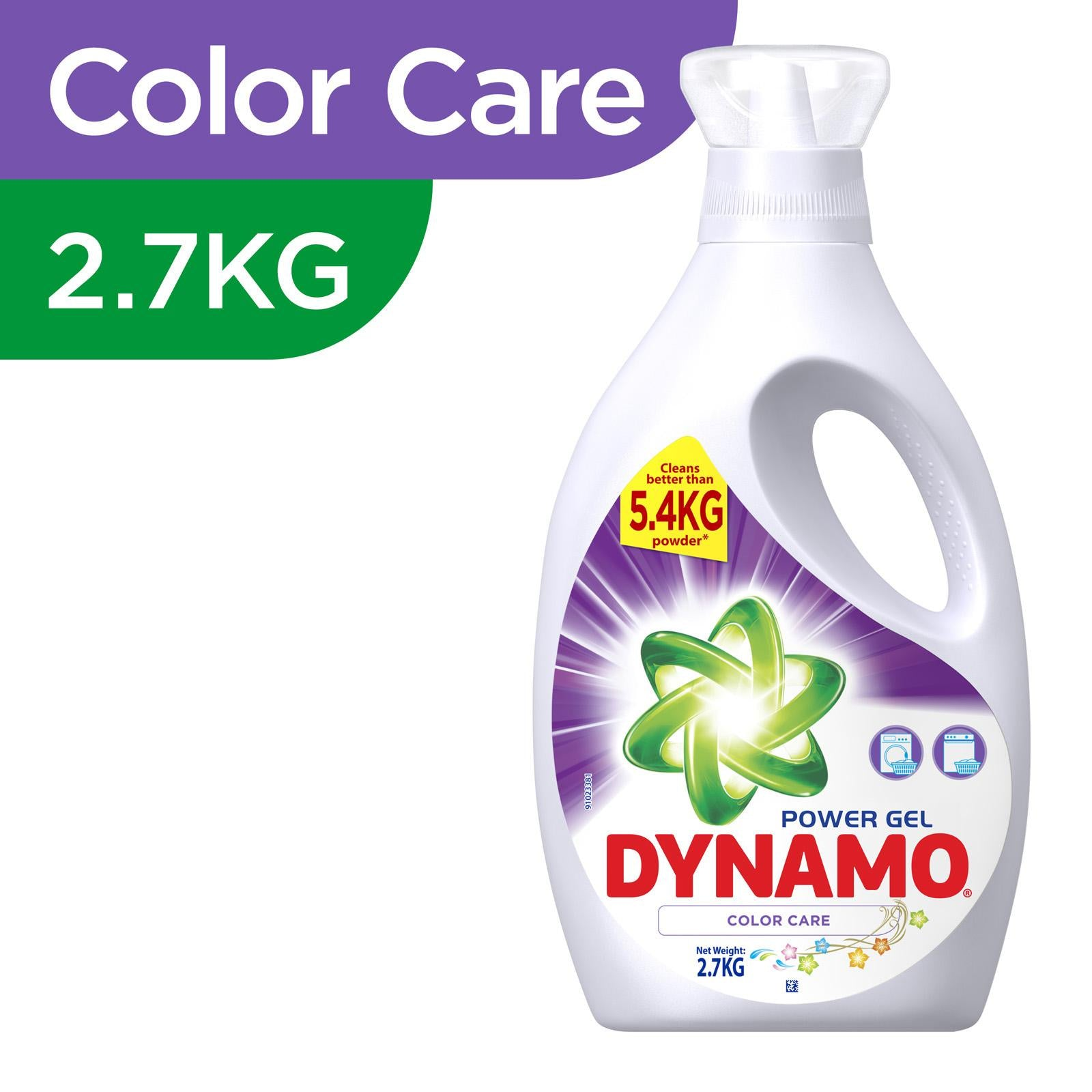 Dynamo Power Gel Color Care Detergent 2.7Kg