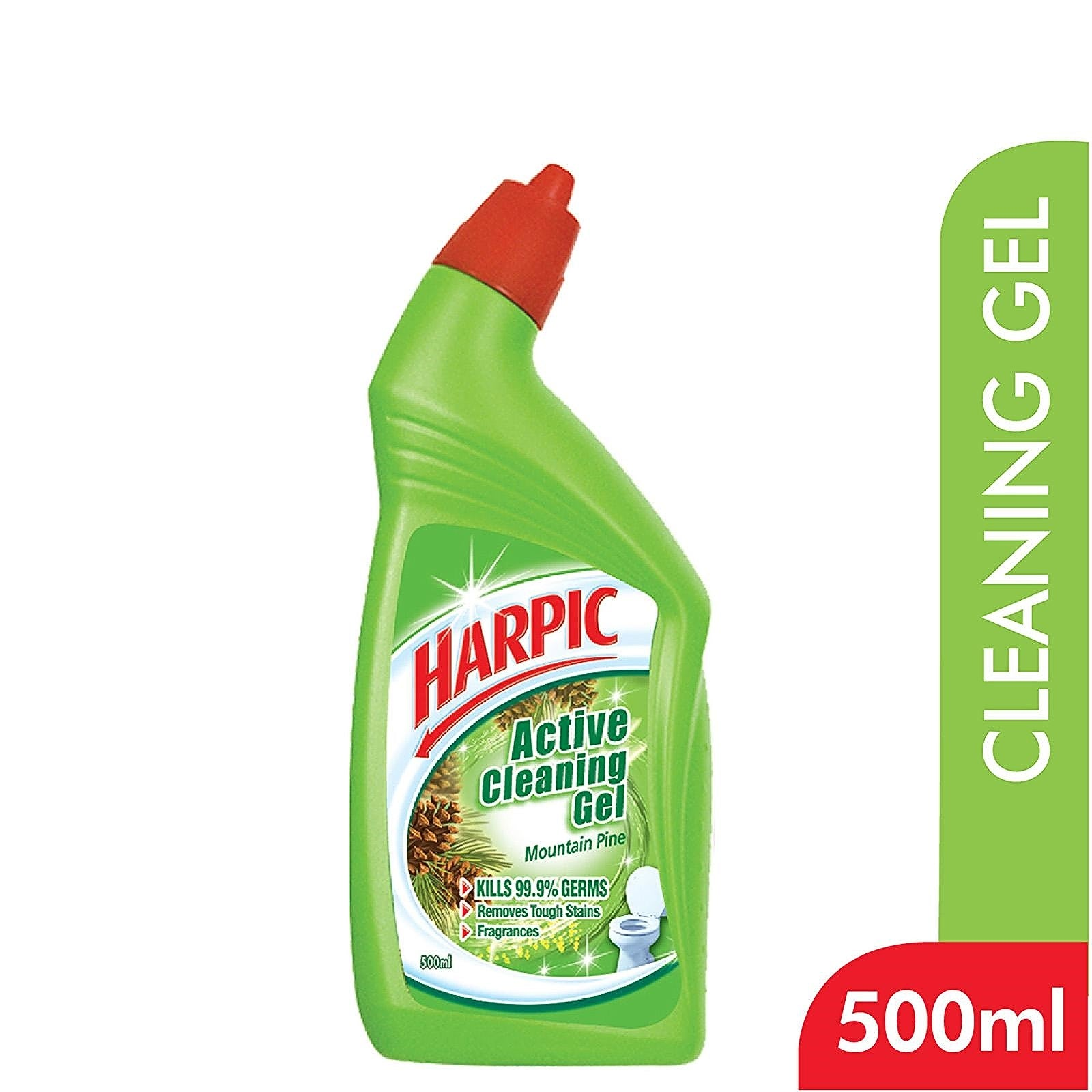 Harpic Active Cleaning Gel 3x500ml Mountain Pine