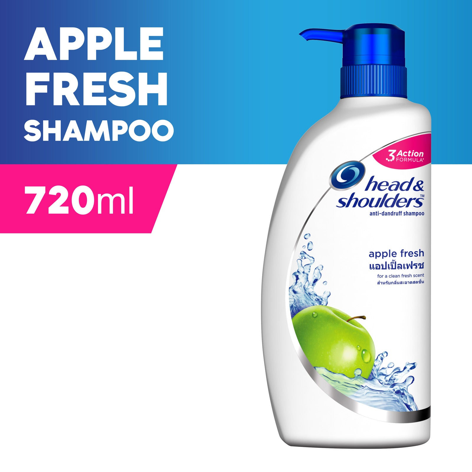 Head And Shoulders Apple Fresh Anti-Dandruff Shampoo 720 ml