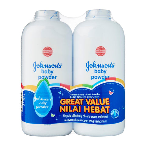 Johnson's Baby Powder 2 x 500 g