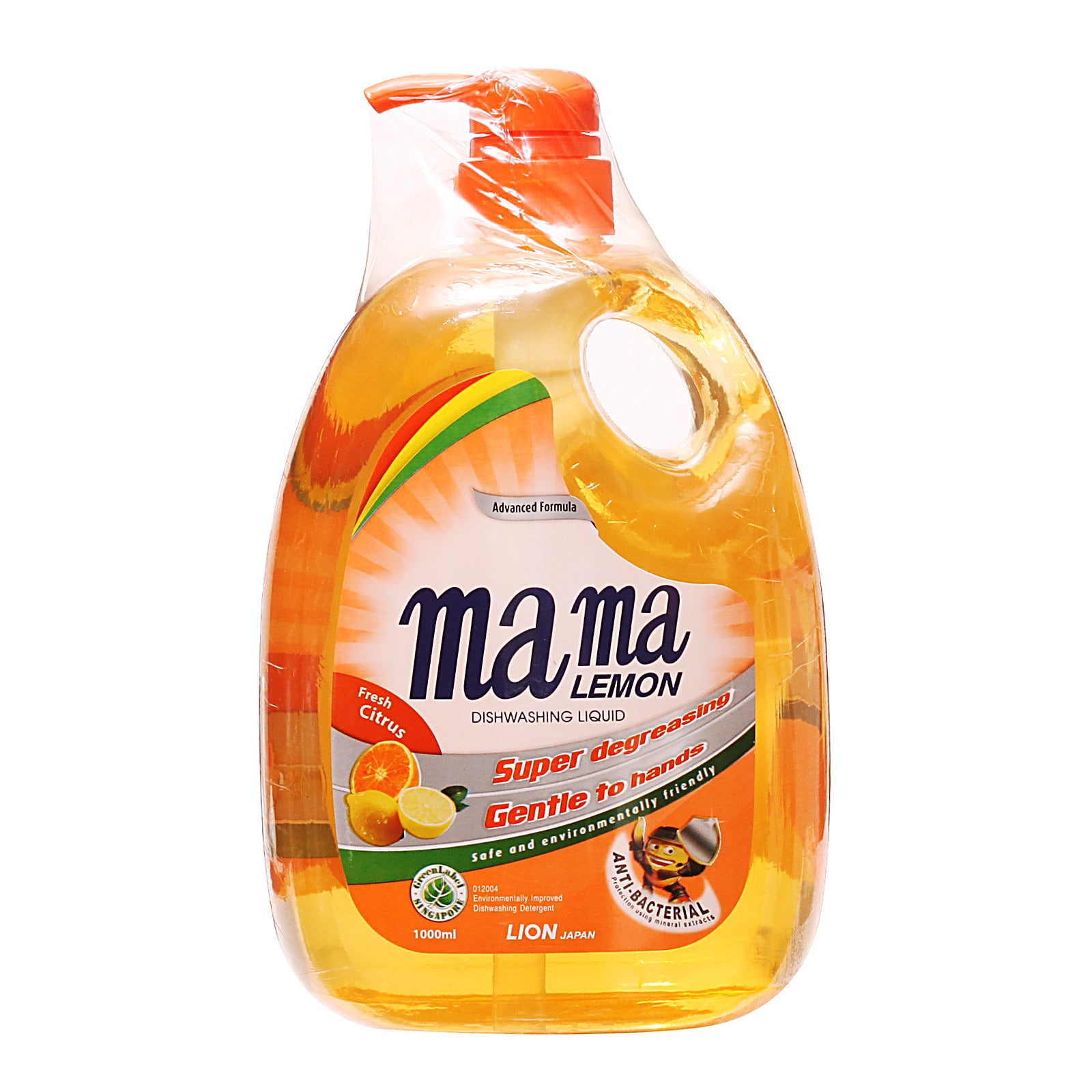 Mama Lemon Anti-Bacterial Fresh Citrus Dishwashing Liquid 2 L