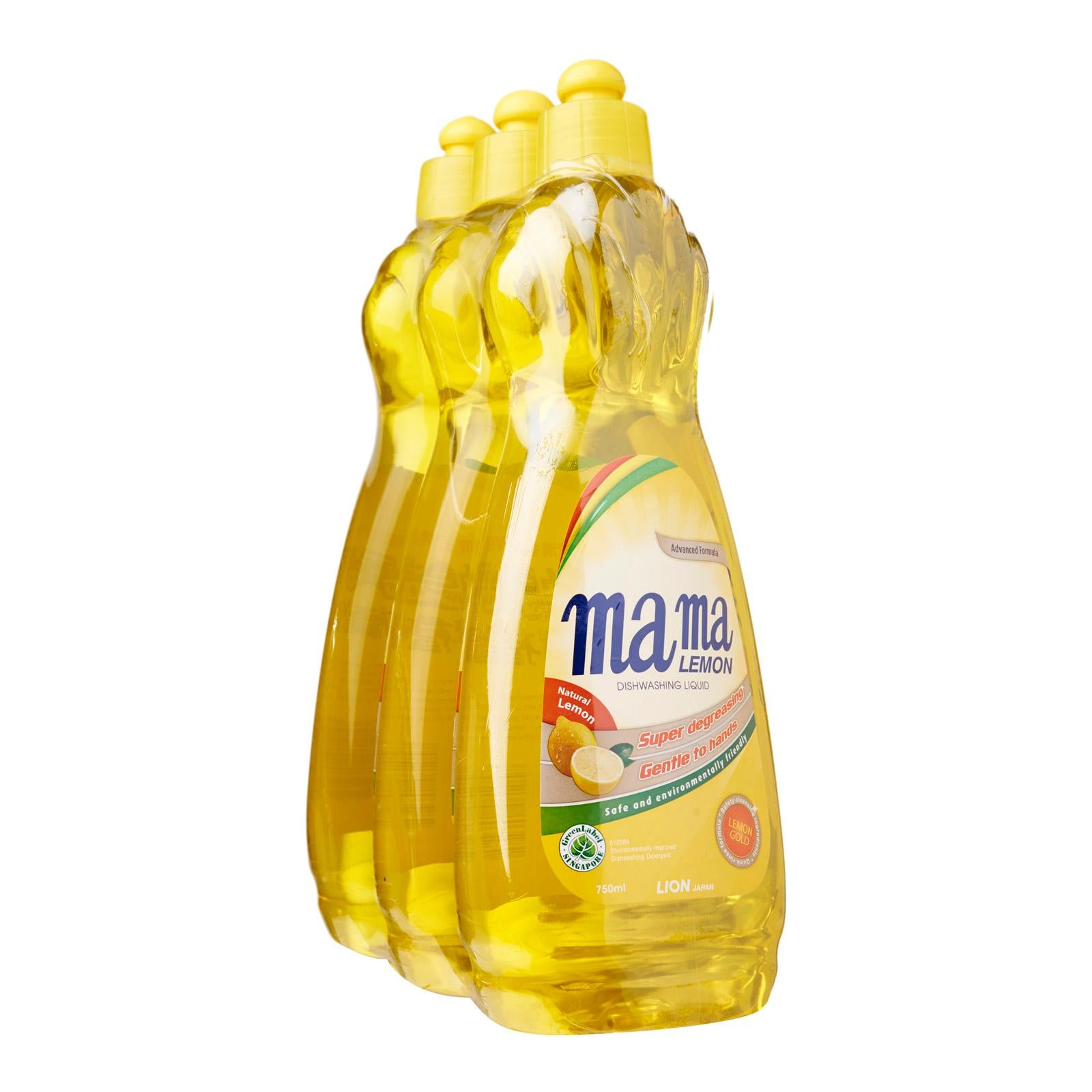 Mama Lemon Dishwashing Liquid Lemon Gold 3 x 750 ml