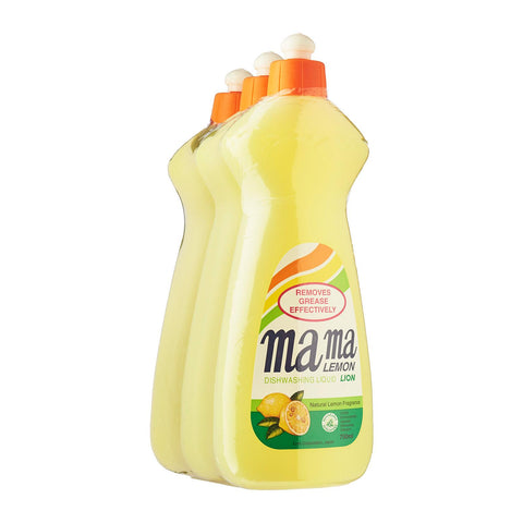 Mama Lemon Dishwashing Liquid Regular 3 x 750 ml
