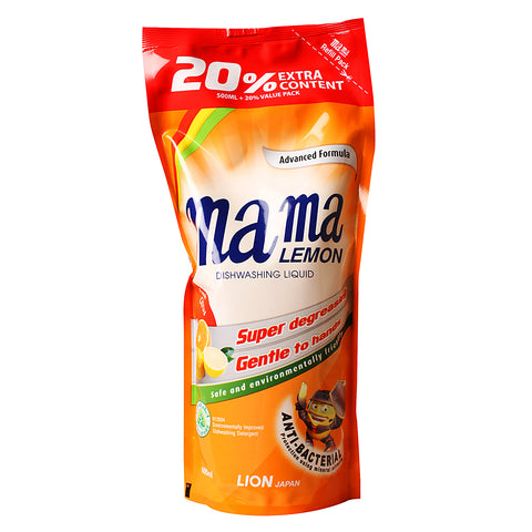 Mama Lemon Refill Pack 600ml Fresh Citrus