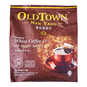 Old Town Nanyang 2-In-1 Roasted White Coffee With Sugar Added 15 x 30 g