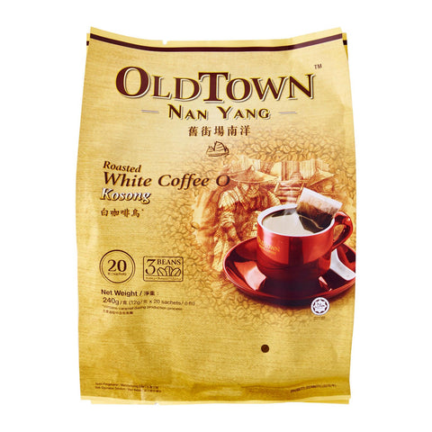 Old Town Nanyang 2-In-1 Roasted White Coffee Without Sugar Added 20 x 12 g
