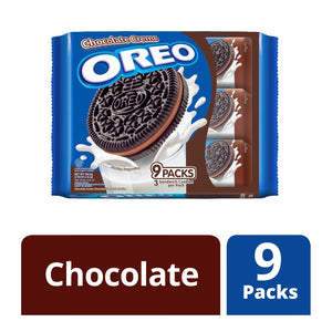 Oreo Cream Filled Chocolate Sandwich Cookies Chocolate 9 x 29.4 g