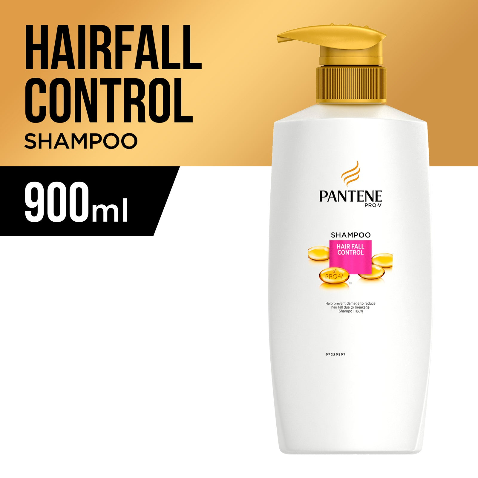 Pantene Hair Fall Control Shampoo 900 ml