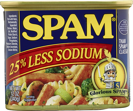 Spam 25 Percent Less Sodium 340g