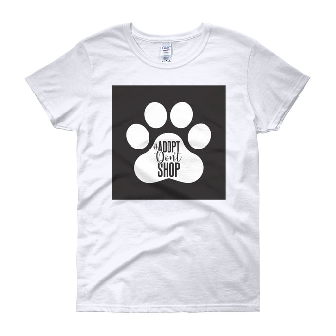 Women's short sleeve RHMF design pet animal rescue