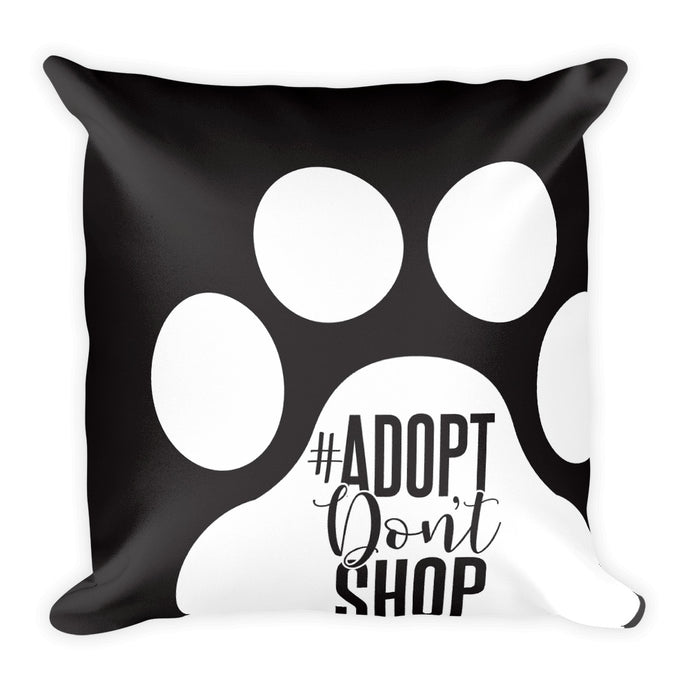 Square Pillow With Sublimation Print - rescueshavemorefun