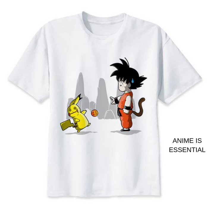 Dragon Ball T- Shirts pikachu and kid goku